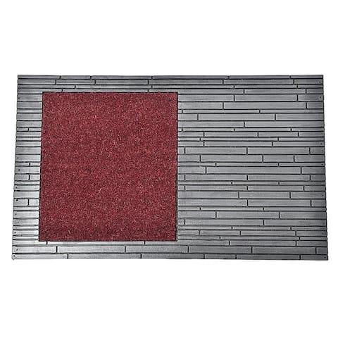 Front Door Mat Colin Coir Coco Rubber 30x18 Red Grey