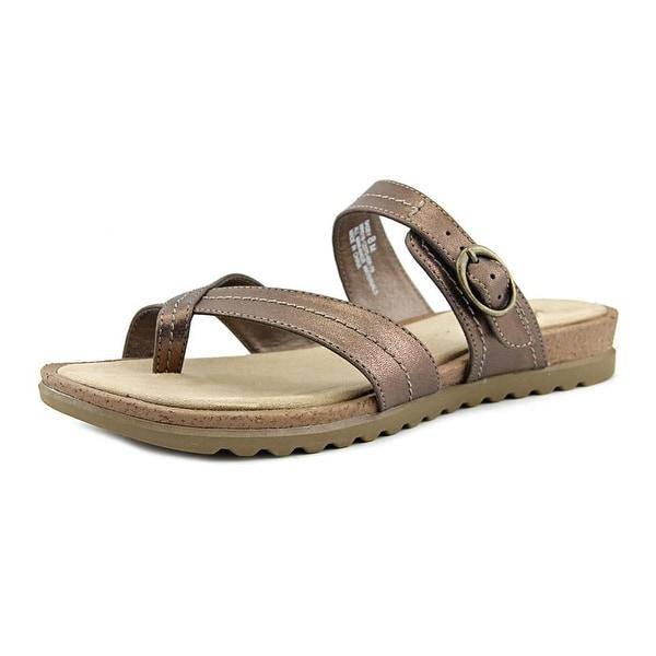 Kim Rogers Sadey Women Open Toe Synthetic Bronze Slides Sandal