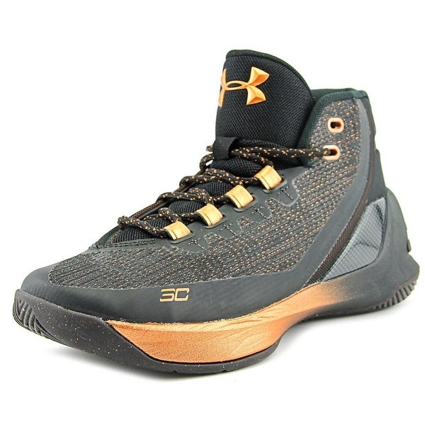 Under Armour Curry 3 Youth Round Toe Synthetic Black Basketball Shoe