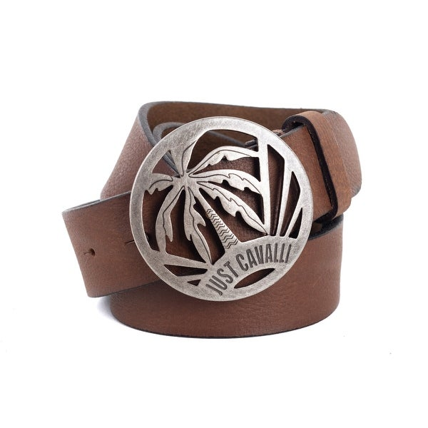 Roberto Cavalli Brown Just Cavalli Metal Buckle Belts