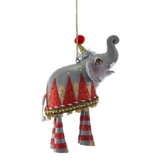 Elephant Zoo Animal Dangle Legs Christmas Holiday Ornament