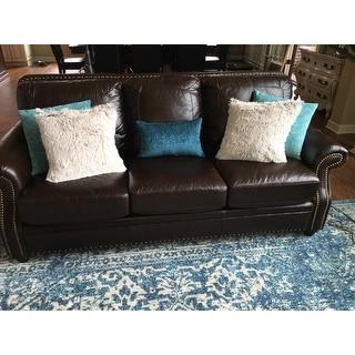 Eaton Teal Decorative Throw Pillow (Set of 2)