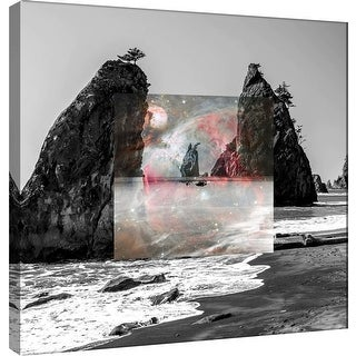 "PTM Images 9-100537  PTM Canvas Collection 12"" x 12"" - ""Celestial Landscape 7"" Giclee Beaches Art Print on Canvas"