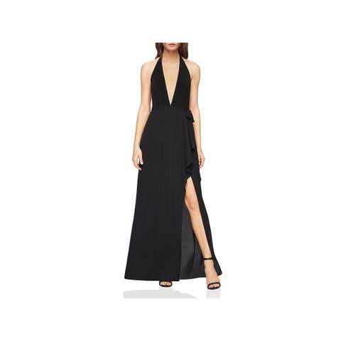 BCBG Max Azria Womens Angeline Cocktail Dress Plunge Cascade Ruffle - 6