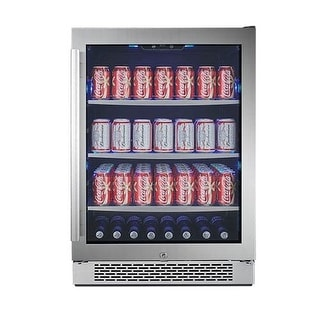 Avallon ABR241GRH 24 Inch Wide 152 Can Energy Efficient Beverage Center with LED Lighting, Double Pane Glass, Touch Control