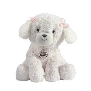Lambs & Ivy White Baby Love White Plush Puppy Stuffed Animal Dog - Annie