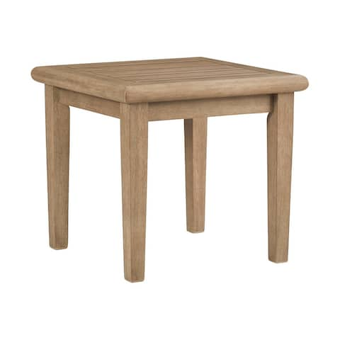 """Gerianne Outdoor Brown Square End Table - 24"""" W x 24"""" D x 22"""" H"""