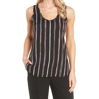 Classiques Entier Black Women's Size Small S Striped Blouse Silk