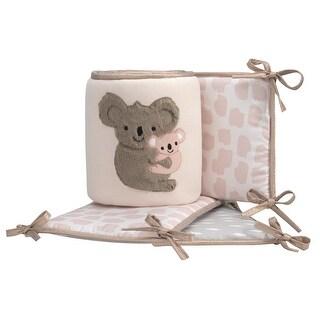 Lambs & Ivy Pink Calypso 4-Piece Crib Bumper