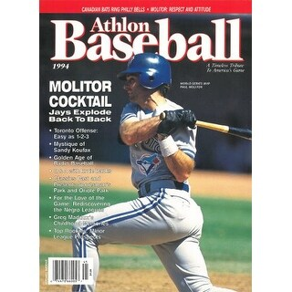Paul Molitor unsigned Toronto Blue Jays Athlon Sports 1994 MLB Baseball Preview Magazine