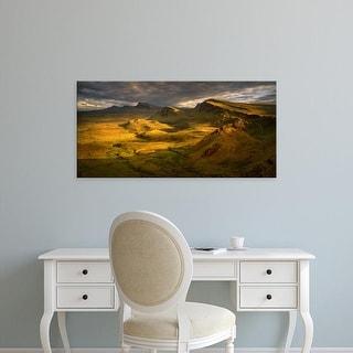 Easy Art Prints Panoramic Images's 'Trotternish Ridge in sunset light, Isle of Skye, Scotland' Premium Canvas Art