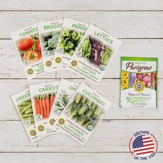Backyard Farmers Market - Grow Your Own Vegetables - 8 Pack Seed Kit & Plant Food - 8 Pack