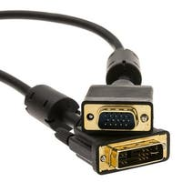 DVI-A to VGA Cable (Analog), Black, DVI-A Male to HD15 Male, 3 meter (10 foot)