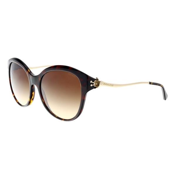 aa845226805b Shop Coach HC8189 541713 Dark Tortoise Cat Eye Sunglasses - 55-17 ...