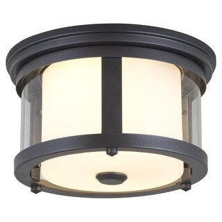 DVI Lighting DVP4470 Niagara Outdoor 2 Light Flush Mount Ceiling Fixture