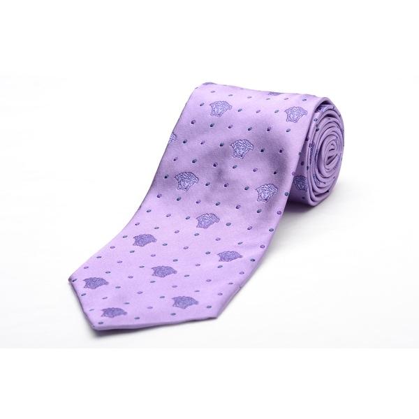 Versace Men's Medusa Logo Silk Neck Tie A8779 Purple