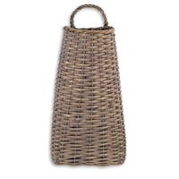 """Pack of 6 Country Rustic Brown Willow Woven Decorative Hanging Baskets 16"""""""