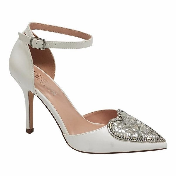 De Blossom Collection Adult Ivory Pointed Toe Mid-Heel Pumps