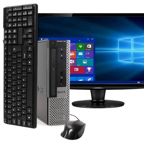Dell 790 Intel i5 4GB 250GB HDD Windows 10 Home WiFi Ultra Small Form Factor PC - Black