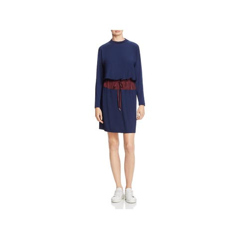 Kenneth Cole New York Womens Wear to Work Dress Drawstring Waist Above Knee