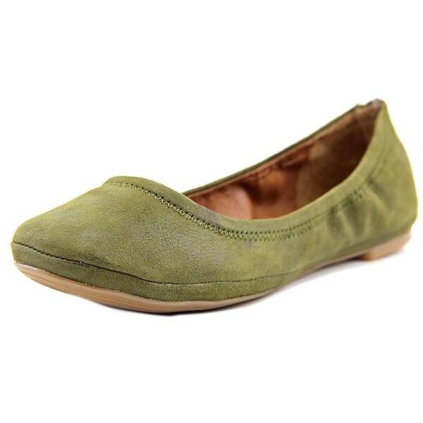 Lucky Brand Emmie Women Round Toe Suede Green Ballet Flats