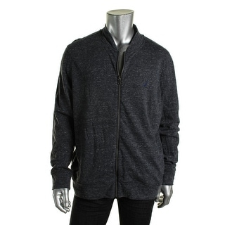 Nautica Mens French Terry Heathered Full Zip Sweater - XL