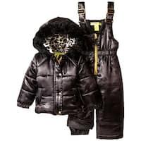 Catherine Malandrino Girls 2T-4T Leopard Snowsuit