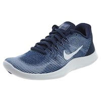 Nike Women Flex Rn 2018 Midnight Navy/White-Purple Slate Running Shoes (10 B Us)