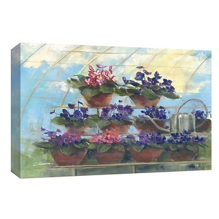"PTM Images 9-153566  PTM Canvas Collection 8"" x 10"" - ""Violets"" Giclee Flowers Art Print on Canvas"