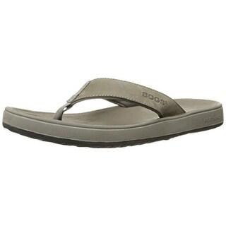 Bogs Mens Hudson II Leather Thong Flip-Flops - 8 medium (d)