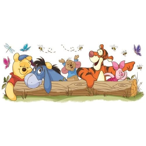 York Wallcoverings RMK2553GM Winnie the Pooh - Pooh & Friends Outdoor Fun Peel and Stick Giant Wall Decals