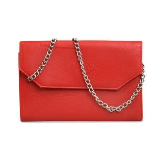 Beyond A Bag Corso Clutch in Red - 1.0 in. x 6.0 in. x 8.0 in.