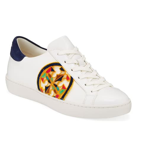 Tory Burch Womens T Logo Fil Coupe Logo Sneaker White Multi