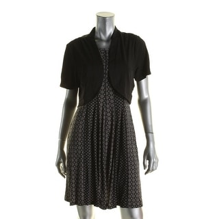 Signature By Robbie Bee Womens Petites Dress With Jacket Pattern Sleeveless - pl