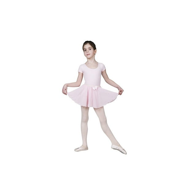 0a2e8a1748 Sansha Pink Florinda Rhinestones Pull-on Dance Skirt 4-14