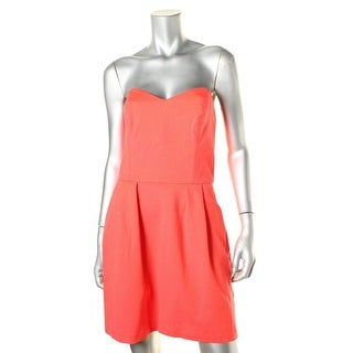Amanda Uprichard Womens Knit Pleated Cocktail Dress - L