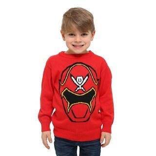 Boys Power Rangers Megaforce Red Mask Long Sleeve Sweater