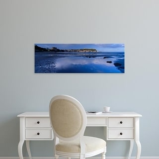 Easy Art Prints Panoramic Image 'Cloud, Scarborough, South Bay, North Yorkshire, England, United Kingdom' Canvas Art