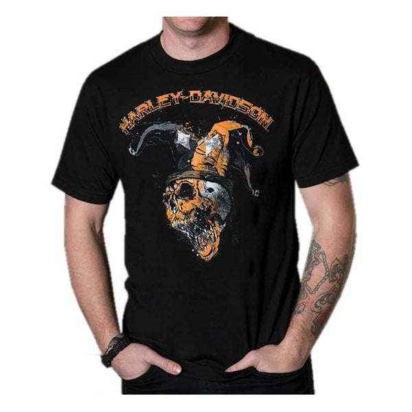 Harley-Davidson Men's Distressed Joker's Wild Crew-Neck Short Sleeve T-Shirt
