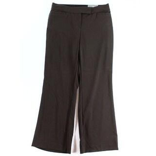 JM Collection NEW Brown Women's Size 10X29 Short Seamed Dress Pants