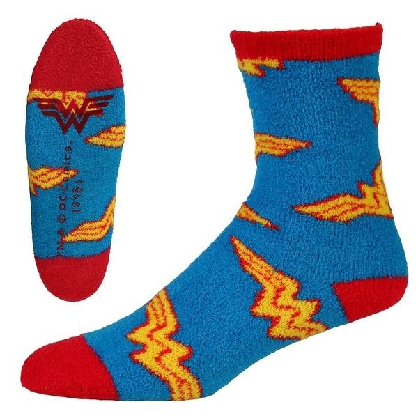 Wonder Woman Logo Adult Slipper Socks