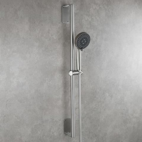 Brushed Nickel Shower Set Include Shower Bar Shower Head and Hose