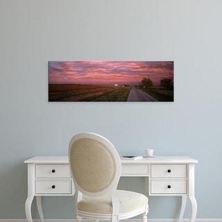 Easy Art Prints Panoramic Images's 'USA, Illinois, road' Premium Canvas Art