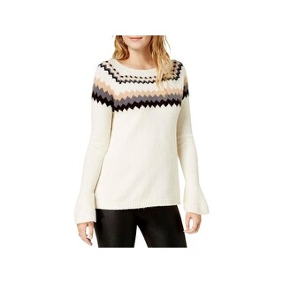 Kensie Womens Pullover Sweater Knit Fair Isle