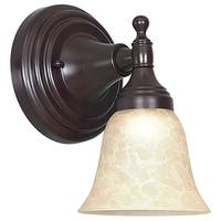 Sunset Lighting F3651 1 Light 100 Watt Bathroom Wall Sconce - Oil Bronze