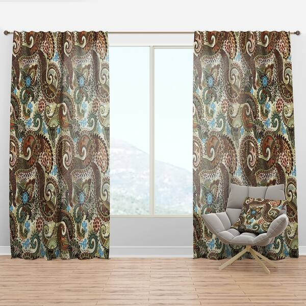 Designart Paisley Pattern With Fantasy Vintage Curtain Panel On Sale Overstock 29625417