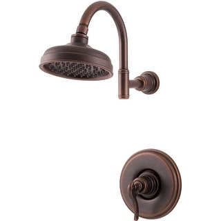 Pfister LG89-7YP  Ashfield Shower Trim Package with Single Function Rain Shower Head, SecurePfit, and EZ Clean