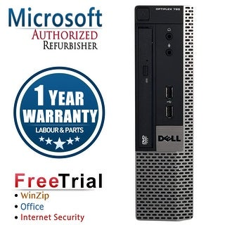 Refurbished Dell OptiPlex 780 USFF DC E5300 2.6G 4G DDR3 160G DVD Win 10 Pro 1 Year Warranty - Silver
