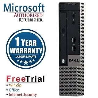 Refurbished Dell OptiPlex 780 USFF DC E5300 2.6G 8G DDR3 320G DVD Win 7 Pro 64 Bits 1 Year Warranty - Silver