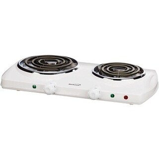 Brentwood Ts-368 1500W Double Electric Burner - White